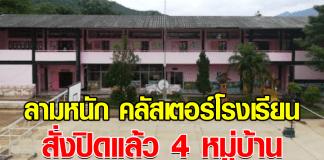 คลัสเตอร์โรงเรียน สั่งปิดแล้ว 4 หมู่บ้าน